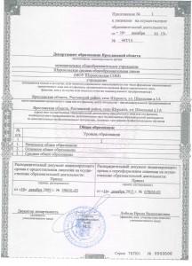 приложение к лицензии 2015г.